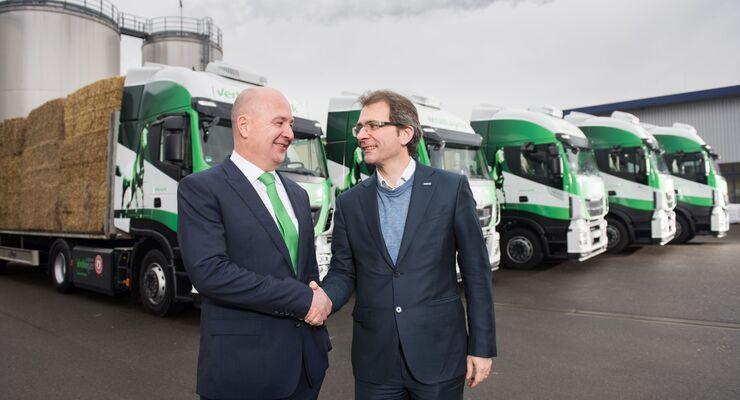 Verbio in Schwedt mit neuen CNG-LKW
