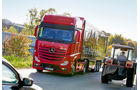 Vergleichstest Euro-6-Zugmaschinen, Mercedes, Actros