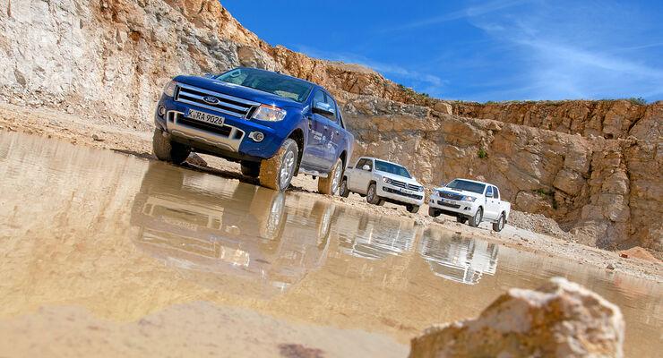 Vergleichstest, Ford Ranger, VW Amarok, Toyota Hilux