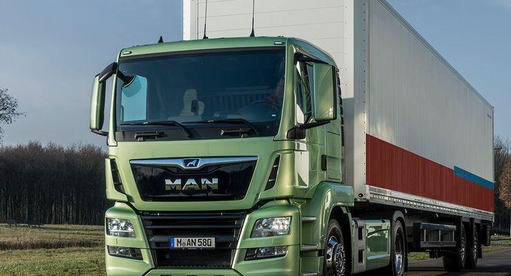 Verteiler-E-Lkw von MAN